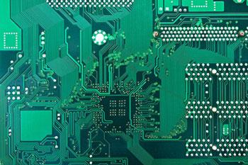 placa de circuito impresso simples